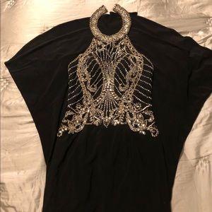 Long  Black Elegant Beautiful Dress..